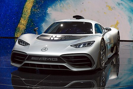 front view of the Mercedes-AMG Project ONE concept at the world premiere in Frankfurt/Main