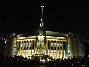 Protestantism in Indonesia - Messiah Cathedral megachurch, captured from Kemayoran Street, Jakarta