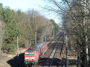 Michendorf–Großbeeren railway - Line between Michendorf and Saarmund