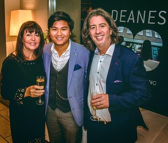 Michael Deane (chef) - Michael Deane and his family at 20 Years of DEANES celebratory dinner in Deanes at Queens.