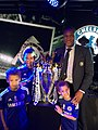 Michael Emenalo celebrates winning the Premier League with his Children.jpg