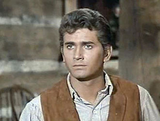 Michael Landon as Little Joe Cartwright Michael Landon in Bonanza episode Showdown (2).jpg
