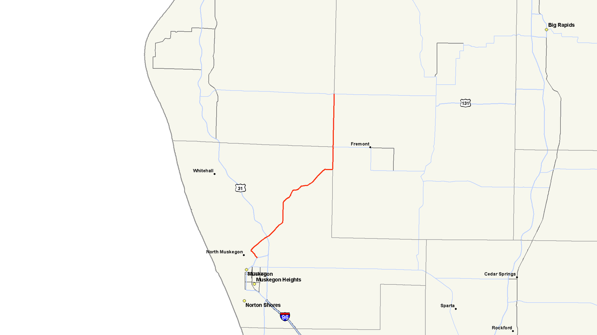 M 120 Michigan Highway Wikipedia - Us-127-michigan-map