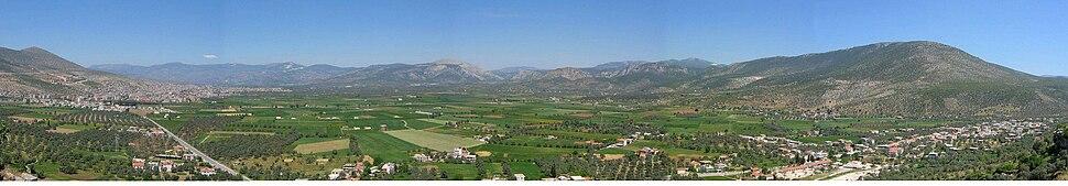 Panorama of Milas plain.