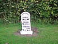 Milestone near Peebles - geograph.org.uk - 1558473.jpg