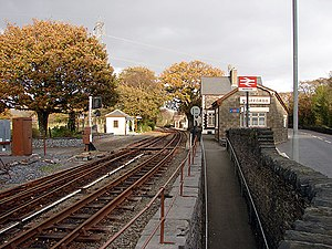 Minffordd railway station - The upper (Ffestiniog Railway) level of Minffordd station