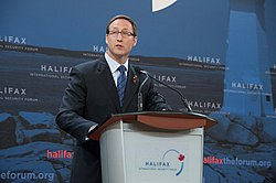 Minister of Defense Peter MacKay at the Halifax International Security Forum