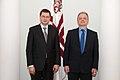Ministru prezidents Valdis Dombrovskis tiekas ar Beļģijas Karalistes vēstnieku Latvijā Franku Arnautsu (6689142217).jpg