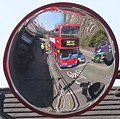 Mirror on traffic lights to show cyclists to drivers - geograph.org.uk - 2866861.jpg