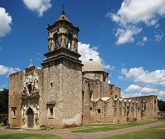 National Register of Historic Places listings in Texas - Image: Mission San José San Antonio
