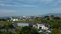 View of downtown Miyakonojo, from Miyakonojo Castle Ruin Park