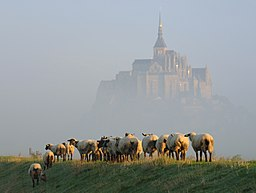 Mont Saint-Michel in september morning