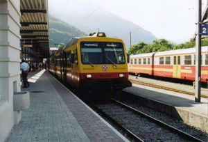 Montafon Railway - NPZ of the Montafonerbahn in Schruns