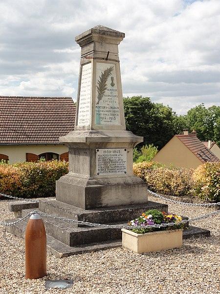 Montigny-Lengrain (Aisne) monument aux morts