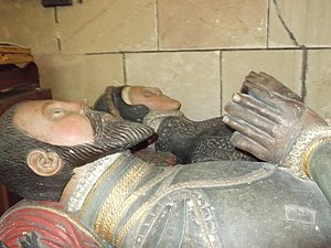 Andrew Corbet (died 1578) - Effigies of Richard Corbet and Margaret Wortley, née Savile, his wife, in St Bartholomew's church, Moreton Corbet. Richard held Andrew's wardship for about four years.
