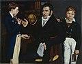 Moritz Daniel Oppenheim - Bildnis Simon Moritz von Bethmann mit seinen Neffen.jpg