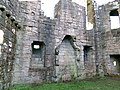 Morton Castle great hall fireplace, Thornhill, Dumfries and Galloway, Scotland.jpg