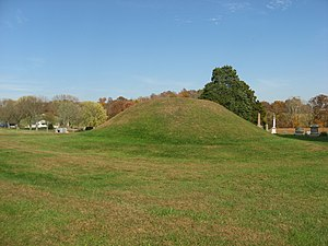 Mound Cemetery Mound (Chester, Ohio) - Comprehensive view from the southwest
