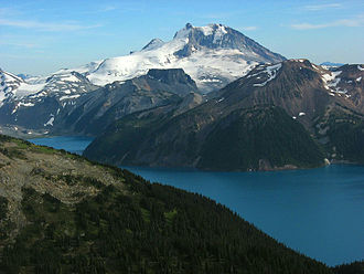 Mount Garibaldi - Mount Garibaldi and The Table as seen from The Black Tusk.
