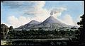 Mount Vesuvius from the sea shore above Resina. Coloured etc Wellcome V0025256.jpg