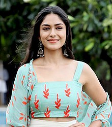 Mrunal Thakur during promotion of Super 30.jpg
