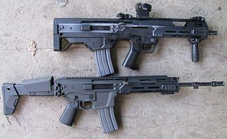 MSBS rifle - An MSBS-5.56B (above) and MSBS-5.56K (below)