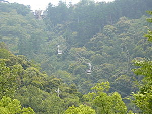 Mount Kinka (Gifu) - The ropeway up Mt. Kinka