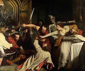 David Rizzio - The Murder of Rizzio, 1787 by John Opie