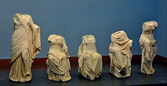Agnano - Muses group from Agnano, Greek 120-100BC, originally from Delos, in the Liebieghaus, Frankfurt am Main