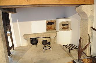 Ethnography and History Museum of Póvoa de Varzim - The building's original kitchen.