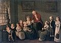 Musikkstund hos etatsråd Hans Knudtzon - Avfotografert maleri (1795) (12359746465).jpg