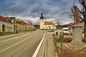 Kunštát - Image: Náměstí Krále Jiřího, Kunštát, okres Blansko