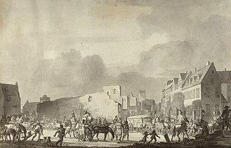 Nørregade - Nørregade after the British bombardment of Copenhagen in 1807