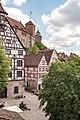 Nürnberg, Stadtbefestigung, Blick vom Wehrgang zur Burg 20170616 001.jpg
