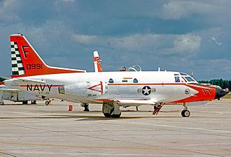 VT-10 - T-39D Sabreliner of VT-10 at NAS Pensacola in 1975