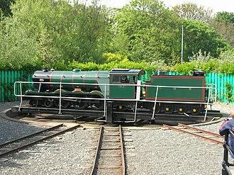 North Bay Railway - Locomotive 1931 'Neptune' on the Scalby Mills turntable.