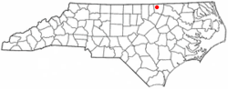 Location of Norlina, North Carolina