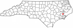 Location of Vandemere, North Carolina
