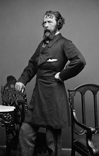 Nathaniel Parker Willis - Portrait of Willis by Mathew Brady studios, circa mid-1850s