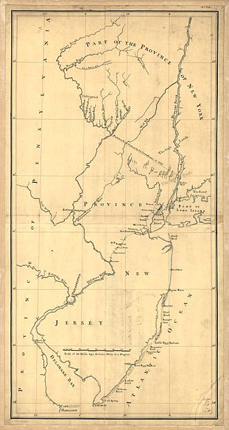 New York – New Jersey Line War - Partition line ordered by the commissioners in 1769