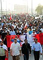 Nabeel Rajab (left), Ali Abdulemam (middle) and Abdulhadi Alkhawaja (right) in a pro-democracy march on 23 February.jpg