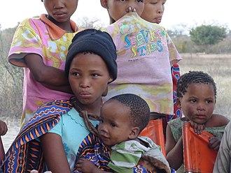 San people - Image: Namibian Bushmen Girls
