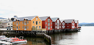 Namsos - Namsos waterfront buildings
