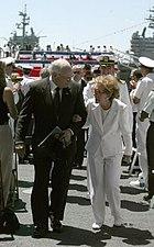Nancy Reagan Dick Cheney USS Ronald Reagan