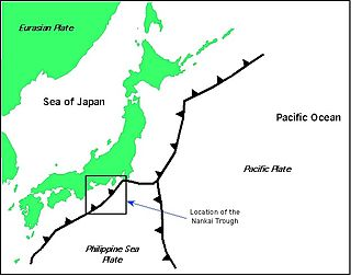 submarine trough located south of Japan