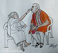 Narendra Modi with his mother in art by Sachin Jha 20181216 141655.jpg