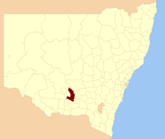 Narrandera Shire - Location in New South Wales