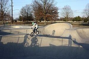 Metro Nashville Skatepark - BMXer on the Wabash Cannonbowl
