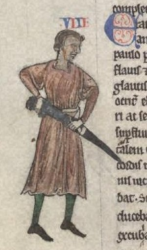 Norman invasion of Ireland - A depiction of Raymond FitzGerald from Gerald de Barri's Expugnatio Hibernica