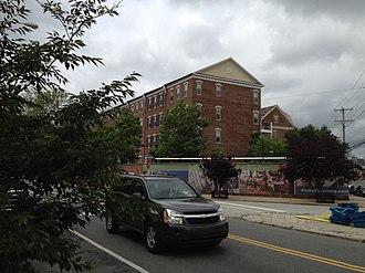 Naval Square, Philadelphia - Bainbridge Street outside view of Naval Square gated community